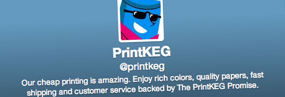 Follow Printkeg on Twitter