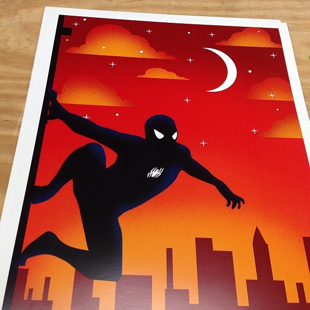 spider man poster printing