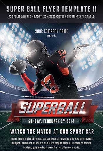 Flyer Designs For That Super Bowl Party Templates