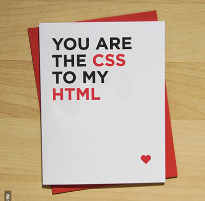 HTML and CSS valentines card