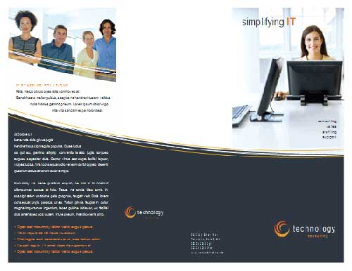 Microsoft word templates that actually look pretty good for Technology brochure templates