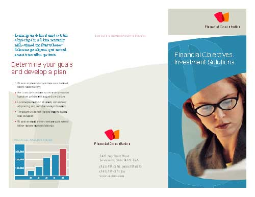 Business brochure template for Microsoft Word