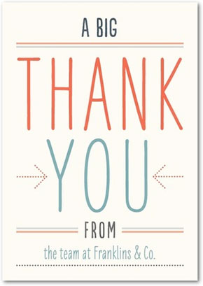 Big business thank you cards
