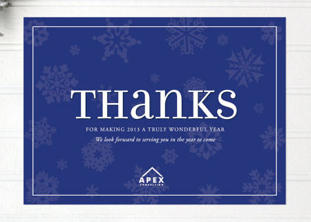 Elegant business thank you cards