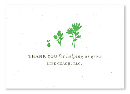 Thanks for growing our business card