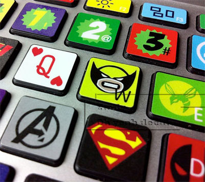 marvel keyboard decals