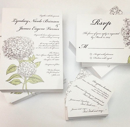 Postcards as wedding invitations