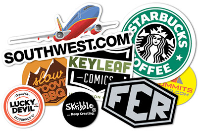 Logos as stickers