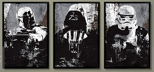 Black Star Wars Posters by Posterinspired