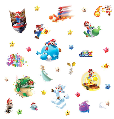 mario galaxy decals