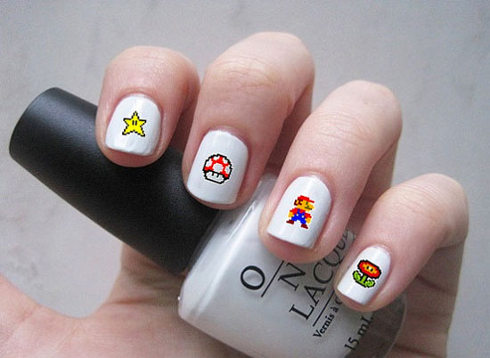 Super Mario nail decals