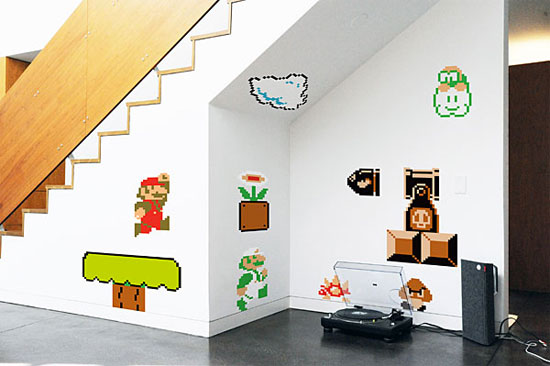 7 examples of super duper mario bros decals - Mario wall clings ...