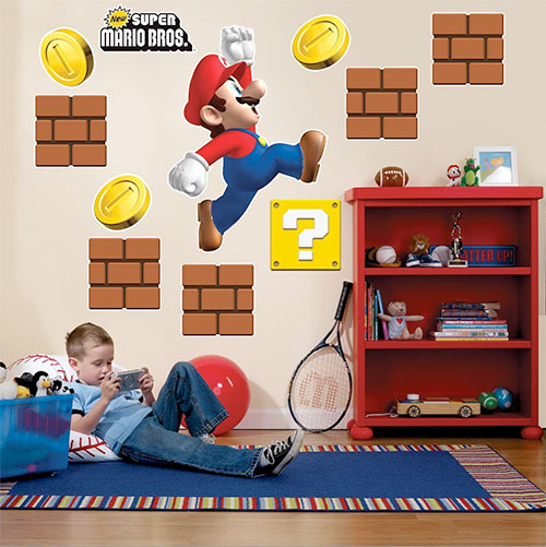 mario wall graphics