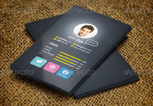 modern vertical business card design