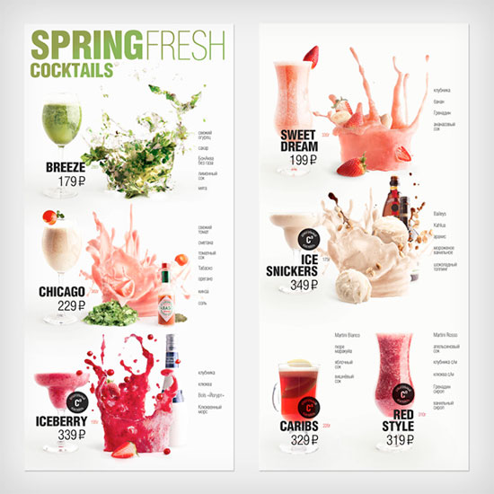 Spring Cocktail Menu
