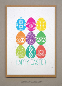 Classic & Fun Easter Cards on Etsy