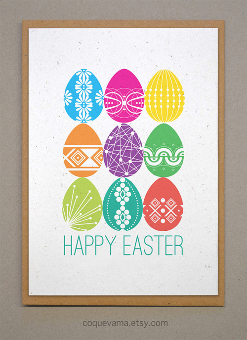 Classic & Fun Easter Cards On Etsy - Printkeg Blog