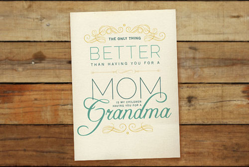 Grandmas Mothers Day Card