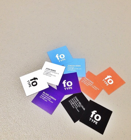 Cool examples of square sized business cards colourmoves