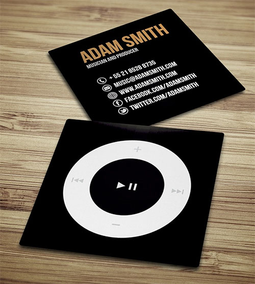 Cool examples of square sized business cards circle business card colourmoves