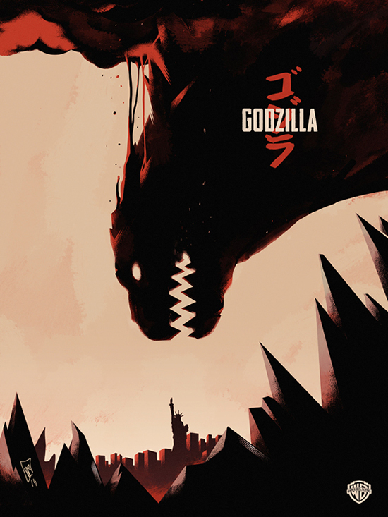 Godzilla 2014 Movie Fan Poster