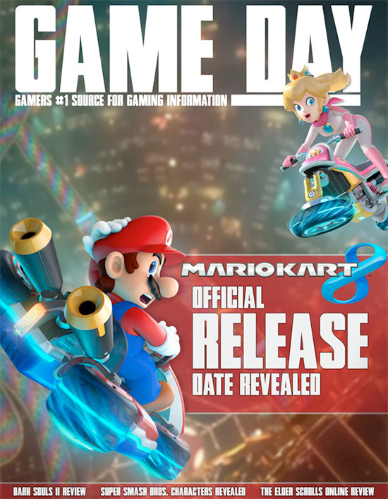 Mario Kart 8 Magaine cover art