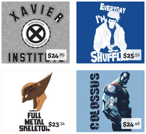 X-Men T-Shirt Designs