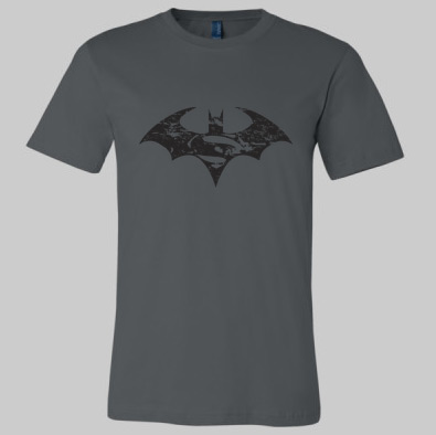 Batman and Superman symbol t-shirt
