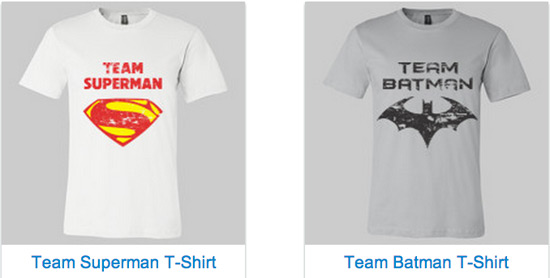 Team Superman Batman Shirts