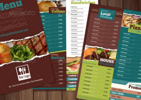 Designed Menu Templates For Restaurants In Need