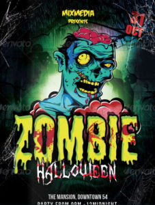 Killer Zombie Flyer Ideas For Halloween