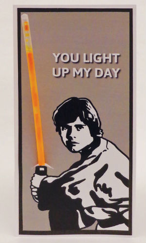 Luke Skywalker Valentines Card