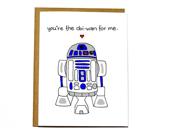 Valentines Star Wars R2 D2 Card