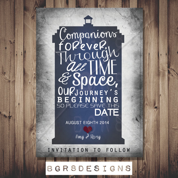 Doctor Who Save the Date card