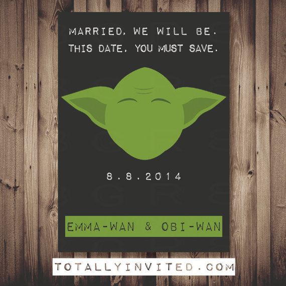 Star Wars Yoda Save the Date card