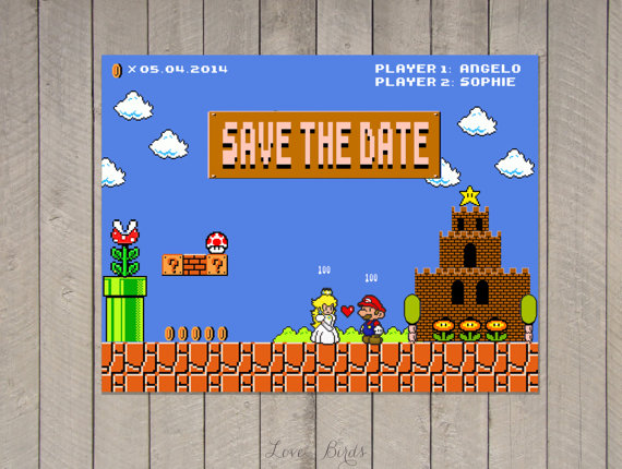 Super Mario Save the Date
