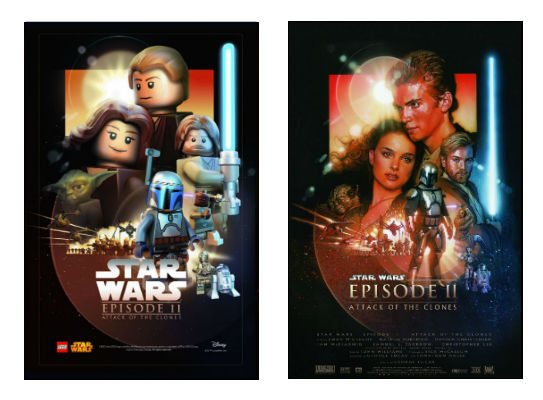 Star Wars Ep2 and Lego Tribute Poster