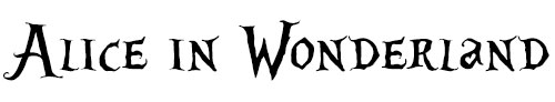 Alice In Wonderland Font Example