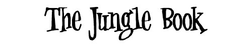 The Jungle Book Font Example