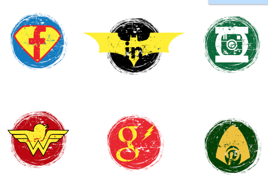 Justice League DC Comics Social Icons