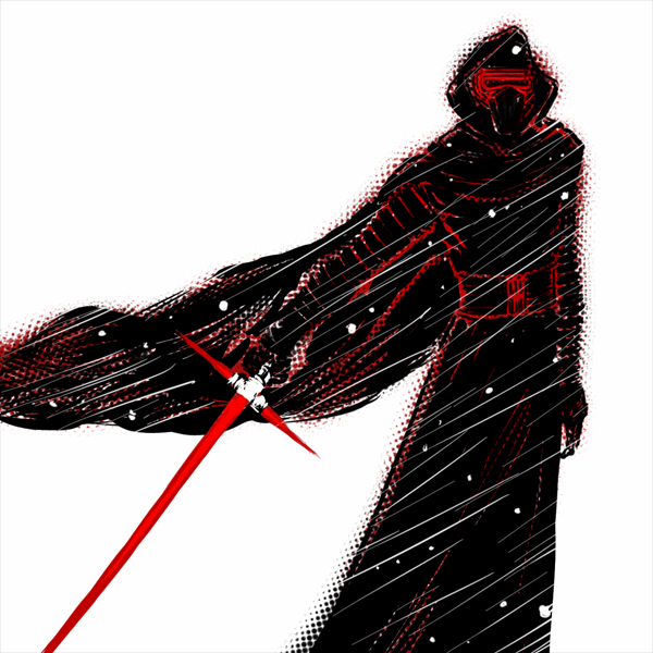 Kylo Ren Doodle using an iPhone