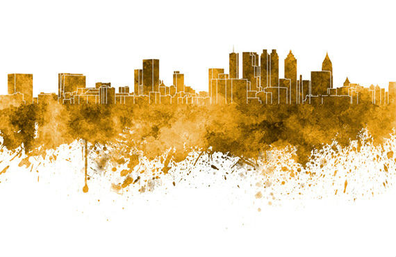 Atlanta Skyline Panoramic Print