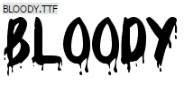 Blood Halloween Font