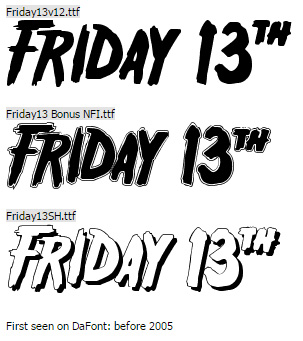 Friday 13th Halloween Font