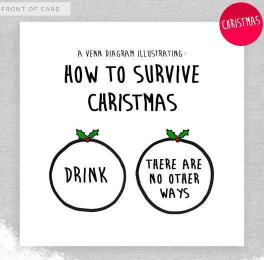How to Survive Christmas Naughty and Funny Card
