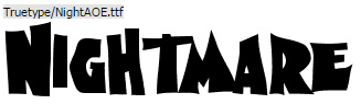 Nightmare on Elm Street Halloween font