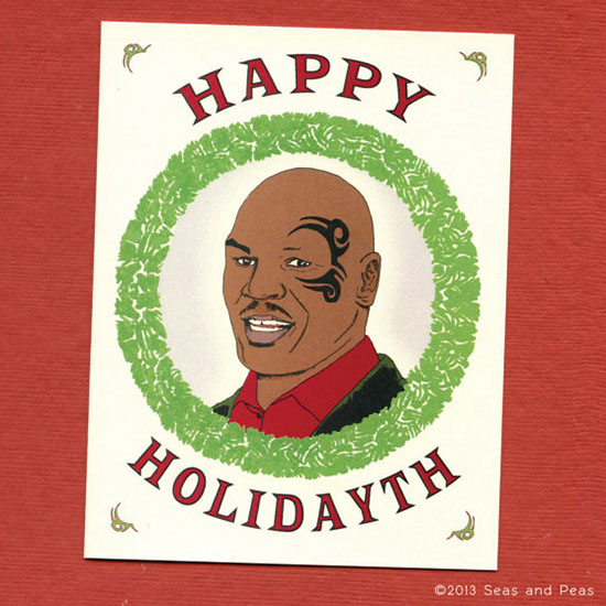 Funny holiday cards made by etsy artists printkeg blog funny mike tyson holiday card m4hsunfo