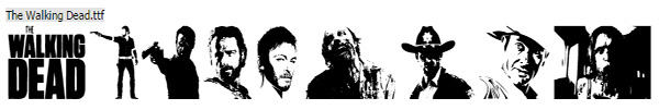 The Walking Dead Halloween Font
