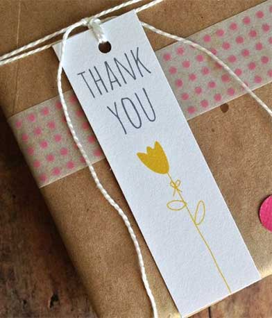 Thank you tags for retailers - Ideas for Hang Tags #1