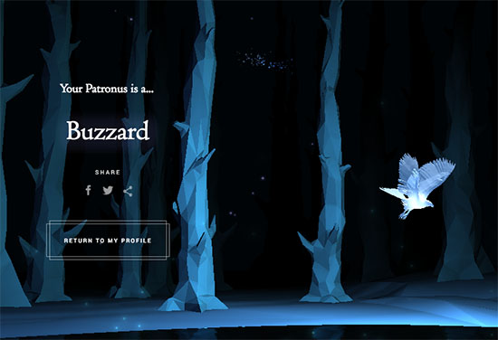 Buzzard from Pottermore